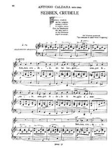 Sebben, crudele: For voice and piano by Antonio Caldara