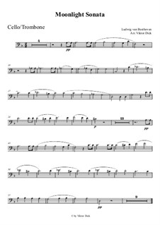 Movement I: For trombone by Ludwig van Beethoven