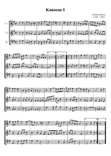 2 Kanzonen: Für Tenorblockflöte und Bassblockflöte by Thomas Morley