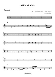 Abide with Me: For clarinet by William Henry Monk