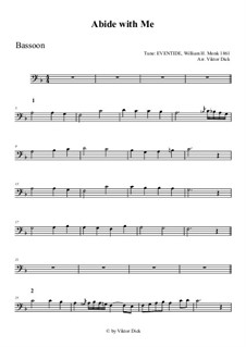 Abide with Me: For bassoon by William Henry Monk