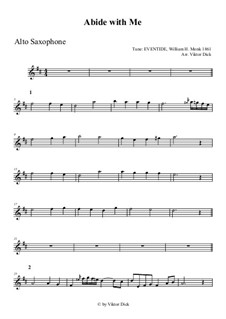 Abide with Me: For alto saxophone by William Henry Monk