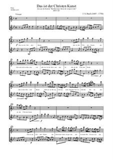 Barmherziges Herze der ewigen Liebe, BWV 185: Das ist der Christen Kunst, für zwei Flöten by Johann Sebastian Bach