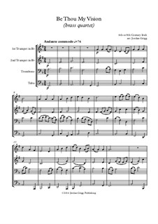 Be Thou My Vision: For brass quartet by folklore