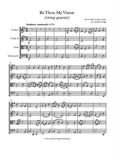 Be Thou My Vision: For string quartet by folklore