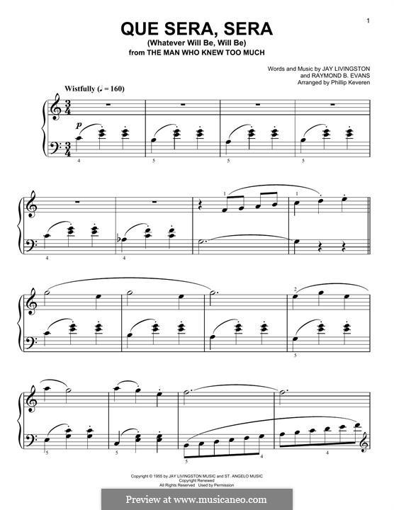 Guitar u00bb Guitar Chords Que Sera Sera - Music Sheets, Tablature, Chords and Lyrics
