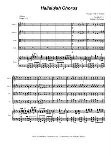 No.44 Hallelujah: For string quartet by Georg Friedrich Händel