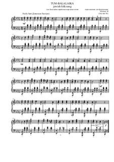 Тум-балалайка: Для фортепиано, Op.11 by folklore