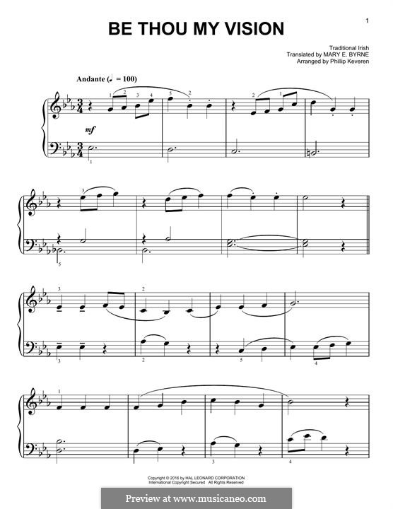 Be Thou My Vision: For piano by folklore