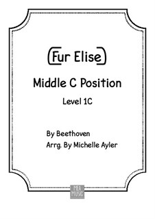 For Elise, for Piano, WoO 59: Beginner piano by Ludwig van Beethoven