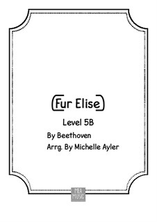 For Elise, for Piano, WoO 59: Intermediate version by Ludwig van Beethoven