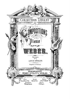 Six Fughettas, Op.1: For piano by Carl Maria von Weber