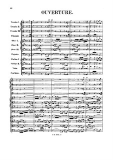 Orchestral Suite No.4 in D Major, BWV 1069: Full score by Johann Sebastian Bach