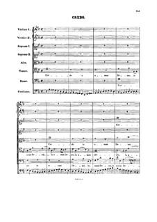Credo: Full score by Johann Sebastian Bach