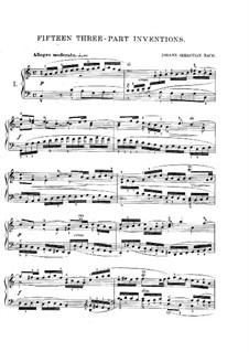No.1-15, BWV 787-801: Complete set by Johann Sebastian Bach