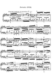 Prelude and Fugue No.18 in G Sharp Minor, BWV 863: For piano by Johann Sebastian Bach