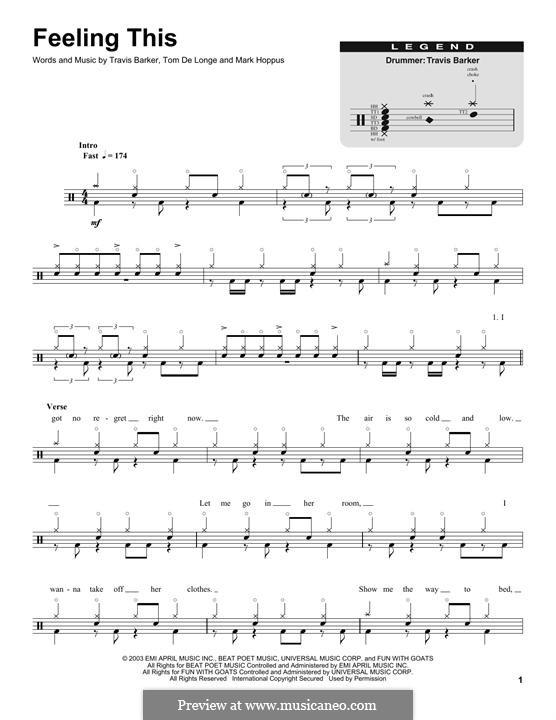 Feeling This (Blink-182) by M. Hoppus, T. DeLonge, T. Barker on MusicaNeo