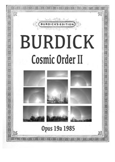Cosmic Order II for solo horn, Op.19a: Cosmic Order II for solo horn by Richard Burdick