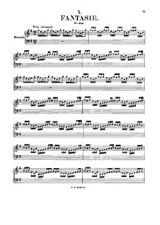 Fantasia in G Major, BWV 572: For organ by Johann Sebastian Bach