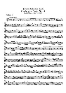 Orchestral Suite No.4 in D Major, BWV 1069: Oboes parts by Johann Sebastian Bach