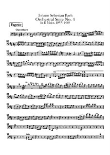 Orchestral Suite No.4 in D Major, BWV 1069: Bassoon parts by Johann Sebastian Bach