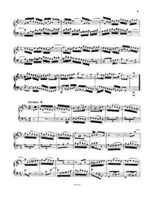No.3 in D Major, BWV 774: Manuscript by Johann Sebastian Bach