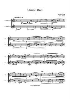 Clarinet Duet: Clarinet Duet by Jordan Grigg