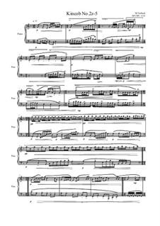 Kincob No.2z-5  for piano, MVWV 1131: Kincob No.2z-5  for piano by Maurice Verheul