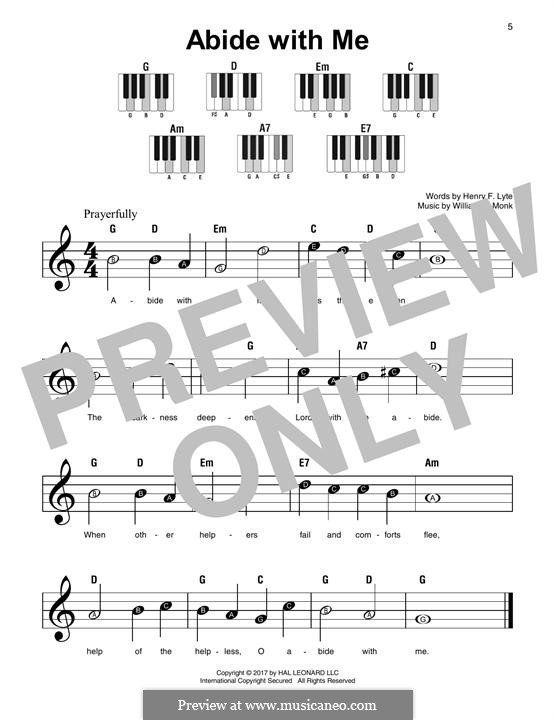 Abide with Me: For any instrument by William Henry Monk