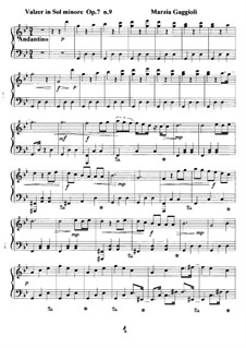 Valzer, Op.7: Valzer No.9 in Sol Minore by Marzia Gaggioli