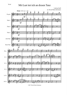 I'm delighted to join this dance: For flute sextet (piccolo, 3 flutes, alto flute and bass flute) by Ludwig Senfl