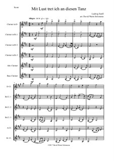 I'm delighted to join this dance: For clarinet sextet (E flat, 3 B flats, Alto and Bass) by Ludwig Senfl