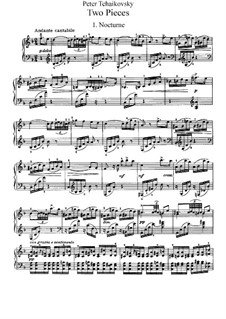 Two Pieces for Piano, TH 132 Op.10: Complete set by Pyotr Tchaikovsky