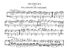 Six Easy Pieces for Piano Four Hands, J.9–14 Op.3: No.4 Andante con variazioni by Carl Maria von Weber