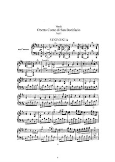 Oberto, Conte di San Bonifacio: Arrangement for soloists, choir and piano by Giuseppe Verdi
