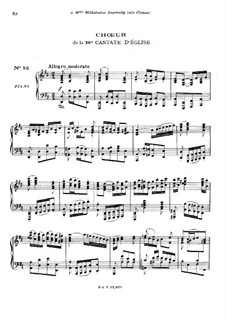 Freue dich, erlöste Schar (Rejoice, Redeemed Host), BWV 30: Choir. Arrangement for piano by Johann Sebastian Bach