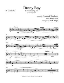 Danny Boy (Londonderry Air): Fpr clarinet choir – B flat clarinet 2 part by folklore