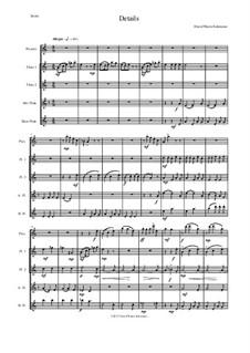 Details: For flute quintet (1 piccolo, 2 C flutes, 1 alto flute, 1 bass flute) by David W Solomons