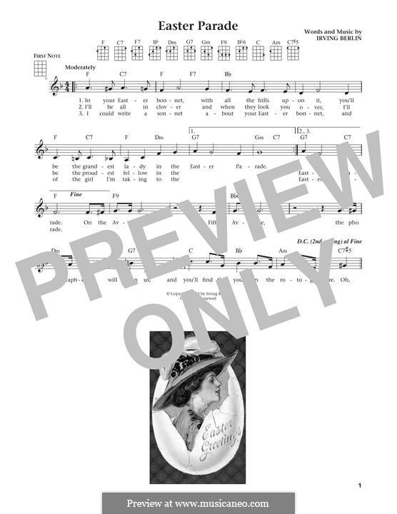 Easter Parade: For ukulele by Irving Berlin