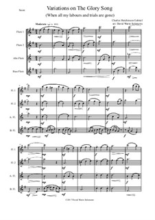 Variations on the Glory Song: For flute quartet by Charles Hutchinson Gabriel