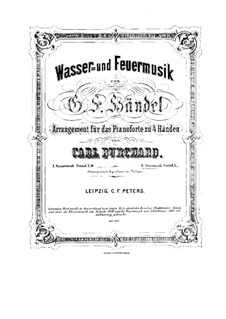 Fireworks Music, HWV 351: For piano four hands by Georg Friedrich Händel