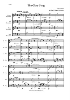 Variations on the Glory Song: For recorder quartet by Charles Hutchinson Gabriel