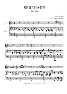 No.4 Ständchen (Serenade): Per violino (o qualsiasi strumento in C) and piano by Franz Schubert