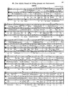 Der ehlich Stand ist billig g'nannt : Singpartitur by Ludwig Senfl