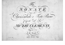 Three Sonatas, Op.33: Complete set by Muzio Clementi
