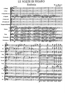 Overture: Full score by Wolfgang Amadeus Mozart