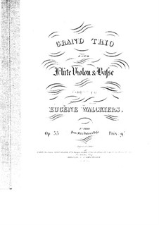 Grand Trio for Flute, Violin and Сello, Op.35: Grand Trio for Flute, Violin and Сello by Eugène Walckiers