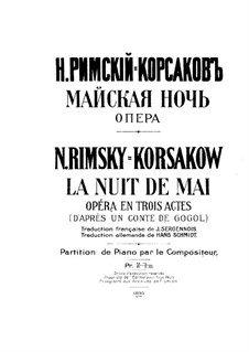 May Night: Piano-vocal score by Nikolai Rimsky-Korsakov