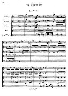 Harpsichord Concerto No.6 in G Minor: Arrangement for string sextet by Jean-Philippe Rameau