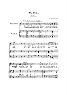 No.4 Die Stille (Stillness): Piano-vocal score (English and german texts) by Robert Schumann
